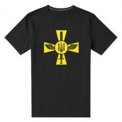 Мужская стрейчевая футболка Меч, крила та герб - FatLine