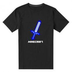 Мужская стрейчевая футболка Меч Minecraft