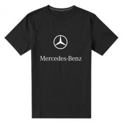 Мужская стрейчевая футболка Mercedes Benz logo - FatLine