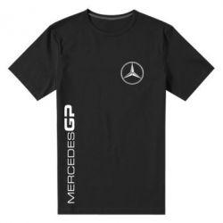 Мужская стрейчевая футболка Mercedes GP Logo - FatLine