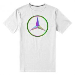 Мужская стрейчевая футболка Mercedes Logo Art - FatLine
