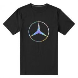 Мужская стрейчевая футболка Mercedes Лого Голограмма