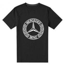 Мужская стрейчевая футболка Mercedes Logo - FatLine