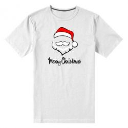 Мужская стрейчевая футболка Merry Christmas - FatLine
