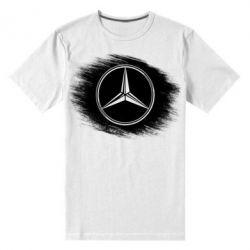 Мужская стрейчевая футболка Мерседес арт, Mercedes art
