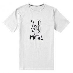 Мужская стрейчевая футболка Metal - FatLine