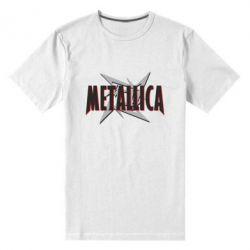 Мужская стрейчевая футболка Metallica Logo - FatLine