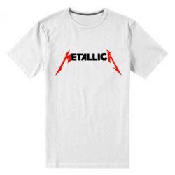 Мужская стрейчевая футболка Металлика - FatLine
