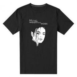 Мужская стрейчевая футболка Michael's wealth and woes - FatLine