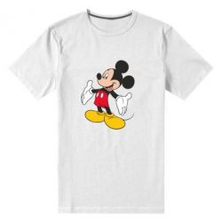 Мужская стрейчевая футболка Mickey Mouse - FatLine