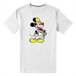 Мужская стрейчевая футболка Микки Доктор - FatLine