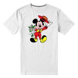 Мужская стрейчевая футболка Микки Джентельмен