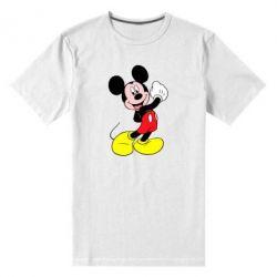 Мужская стрейчевая футболка Микки Маус