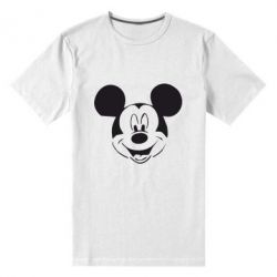 Мужская стрейчевая футболка Микки Маус - FatLine