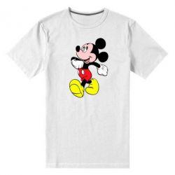 Мужская стрейчевая футболка Микки шагает - FatLine
