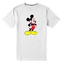Мужская стрейчевая футболка Микки - FatLine