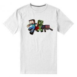 Мужская стрейчевая футболка Minecraft Company - FatLine