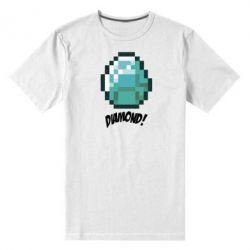Мужская стрейчевая футболка Minecraft Diamond! - FatLine