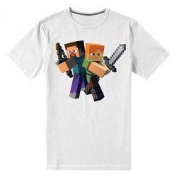 Мужская стрейчевая футболка Minecraft Fan Art - FatLine