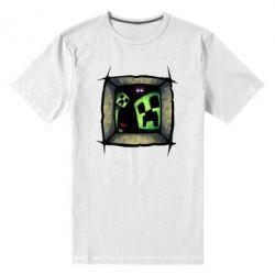 Мужская стрейчевая футболка Minecraft Game - FatLine