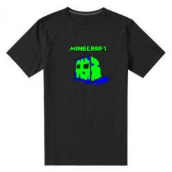 Мужская стрейчевая футболка Minecraft Head - FatLine