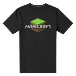 Мужская стрейчевая футболка Minecraft Land - FatLine