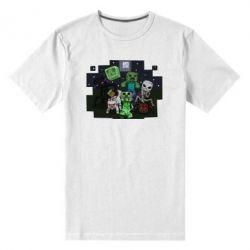 Мужская стрейчевая футболка Minecraft Party - FatLine