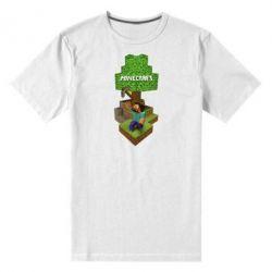 Мужская стрейчевая футболка Minecraft Steve - FatLine