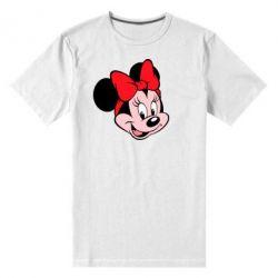 Мужская стрейчевая футболка Минни Маус - FatLine