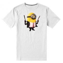 Мужская стрейчевая футболка Миньон Хитман