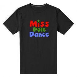 Мужская стрейчевая футболка Miss Pole Dance - FatLine