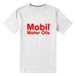 Мужская стрейчевая футболка Mobil Motor Oils