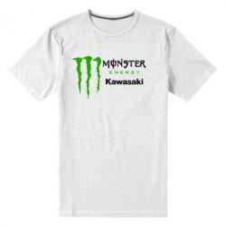 Мужская стрейчевая футболка Monster Energy Kawasaki - FatLine