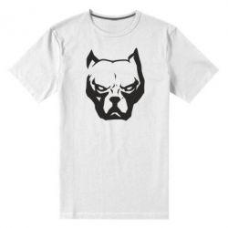 Чоловіча стрейчева футболка Морда пітбуля