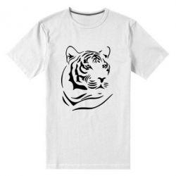 Мужская стрейчевая футболка Морда тигра