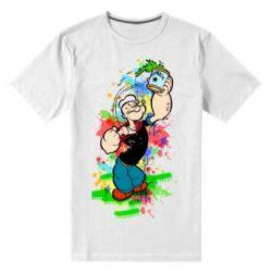Мужская стрейчевая футболка Моряк Папай Арт