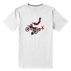 Мужская стрейчевая футболка Moto-X - FatLine