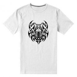 Мужская стрейчевая футболка Мотоцикл с кельтами - FatLine