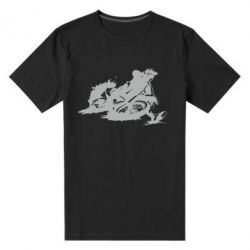 Мужская стрейчевая футболка Мотокросс лого - FatLine