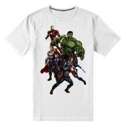 Мужская стрейчевая футболка Мстители Фан Арт - FatLine