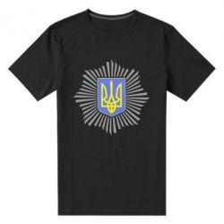 Мужская стрейчевая футболка МВС України - FatLine
