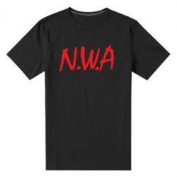 Мужская стрейчевая футболка N.W.A Logo - FatLine