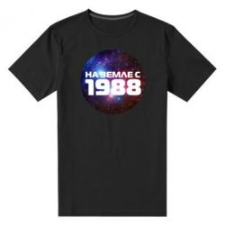 Мужская стрейчевая футболка На земле с 1988 - FatLine
