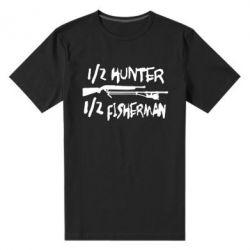 Мужская стрейчевая футболка Наполовину охотник, наполовину рыбак