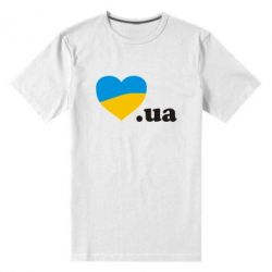 Мужская стрейчевая футболка Народився в Україні - FatLine