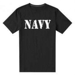 Мужская стрейчевая футболка NAVY - FatLine