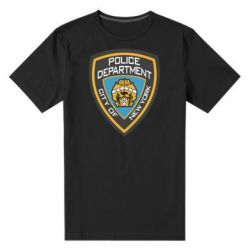 Мужская стрейчевая футболка New York Police Department - FatLine