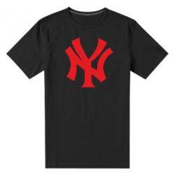 Мужская стрейчевая футболка New York yankees - FatLine