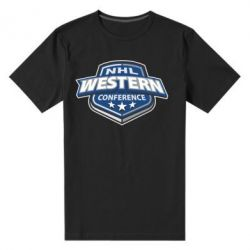 Мужская стрейчевая футболка NHL Western Conference - FatLine