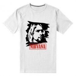 Мужская стрейчевая футболка Nirvana Kurt Cobian - FatLine